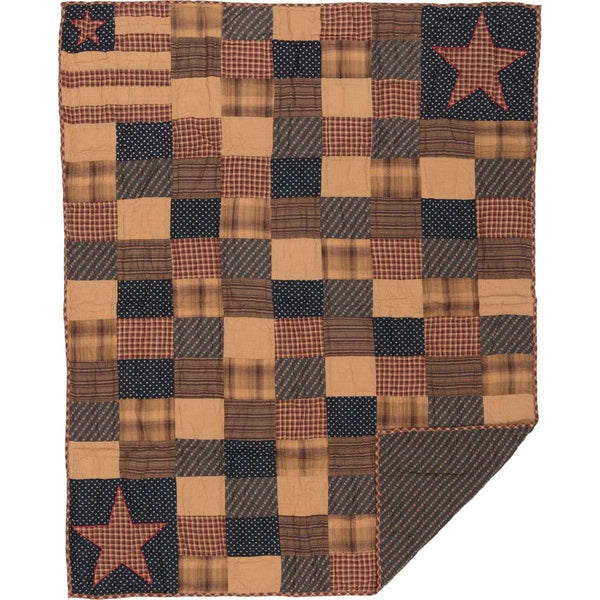 Patriotic Patch Quilted Throw 60x50 VHC Brands