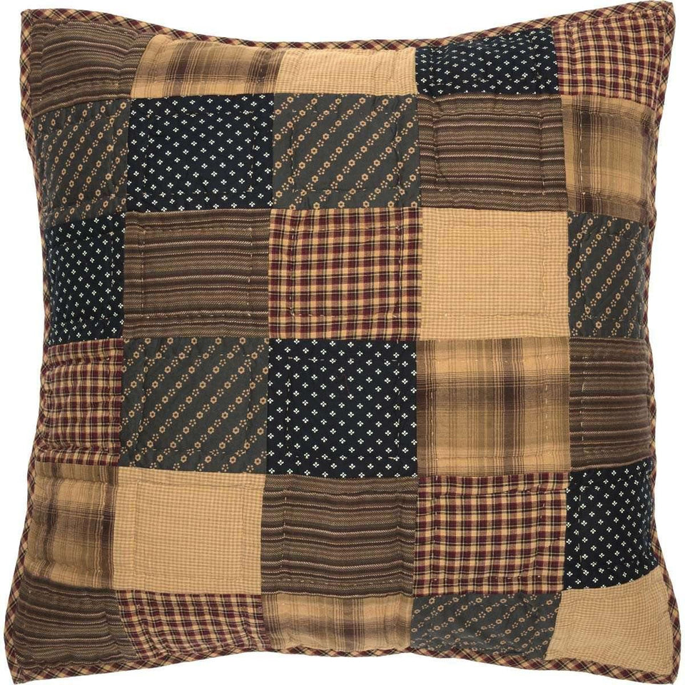 Patriotic Patch Euro Sham Quilted 26x26 VHC Brands