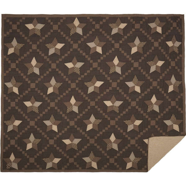 Farmhouse Star Luxury King Quilt 120Wx105L VHC Brands folded