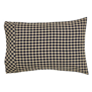 Black Check Standard Pillow Case Set of 2 21x30 VHC Brands