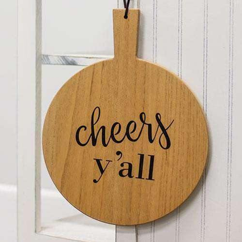 Cheers Y'all Cutting Board Wall Hanging