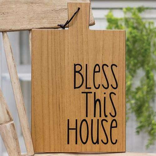 Bless this House Wooden Cutting Board Wall Hanging simple