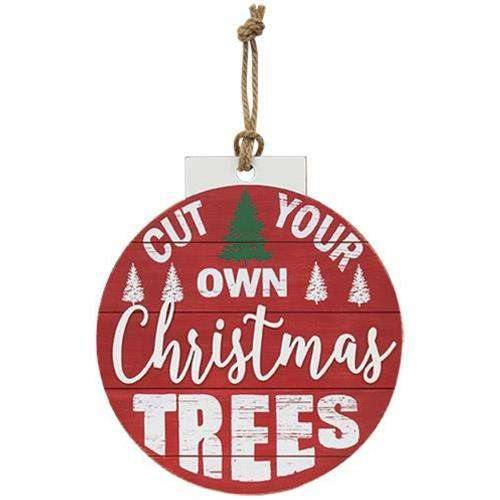 Cut Your Own Christmas Trees Bulb Sign