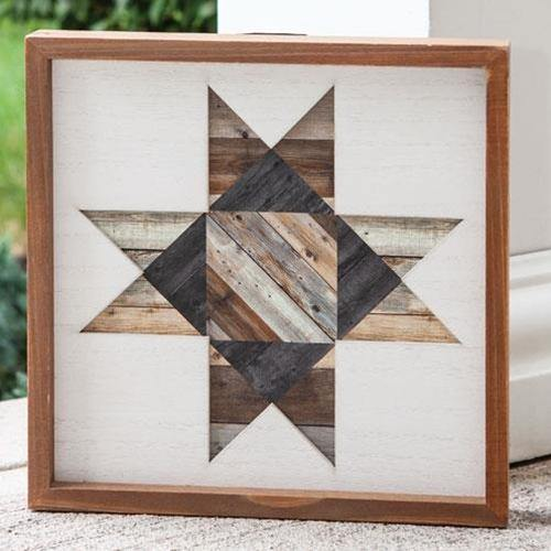 Framed Natural Barn Quilt, 12