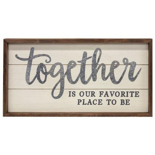 Together Is Our Favorite Place Shiplap Frame