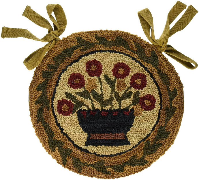 Flower Basket Hooked Chair Pad Park Designs