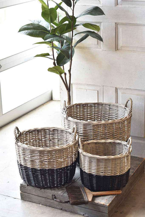 3/Set, Banded Baskets
