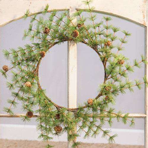 "Tahoe Wreath with Pinecones, 22"" - The Fox Decor"