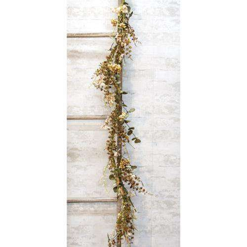"Mixed Cream Fall Floral Garland 40"" - The Fox Decor"