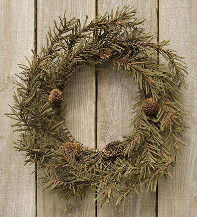 "Country Pine Wreath, 12"" - The Fox Decor"