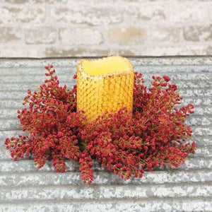 "Bursting Astilbe Candle Ring, 3.5"", Sangria"