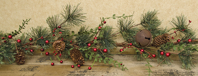 Red Berry Pine Garland - 4ft