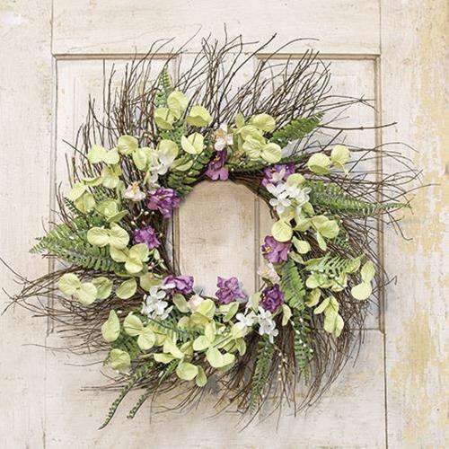 "Lakeside Mix Wildflower Sunburst Wreath, 22"" - The Fox Decor"