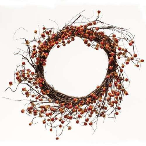 Twiggy Podka & Bittersweet Sunburst Wreath, 20""