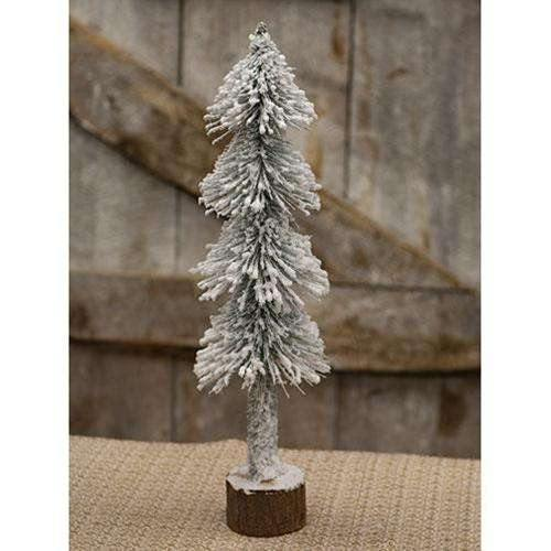 "Heavy Snowy Pencil Tree, 20"" - The Fox Decor"