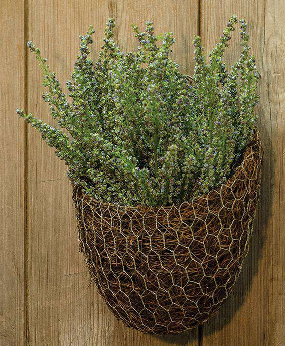 Chicken Wire & Angel Vine Wall Basket, 9x8 - The Fox Decor