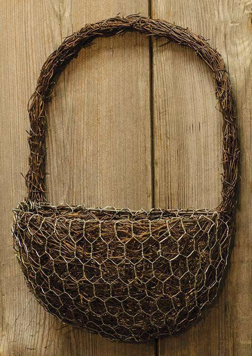 Angel Vine Half-Round Wall Basket
