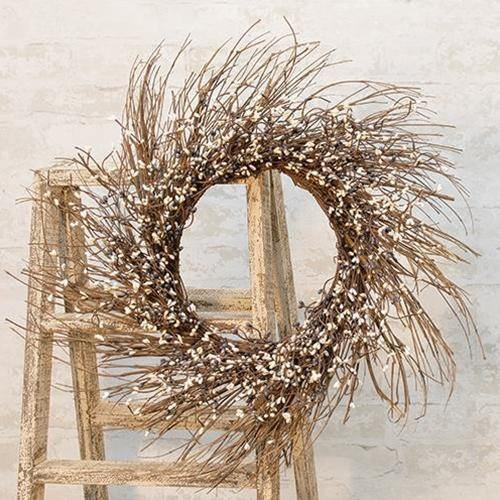 Farmhouse Mix Pip Twig Wreath, 22""