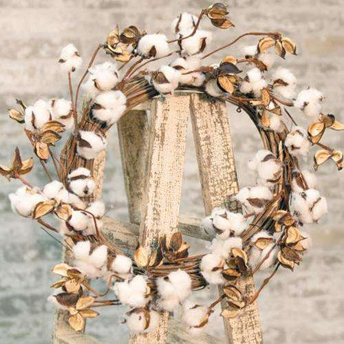 *Cotton Ball Wreath