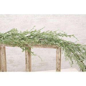 Ice Glazed Cedar Garland, 5ft