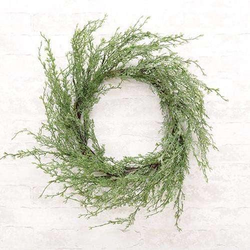 Ice Glazed Cedar Wreath, 24""