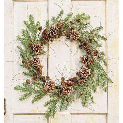 "Snowmass Village Wreath, 24"" - The Fox Decor"