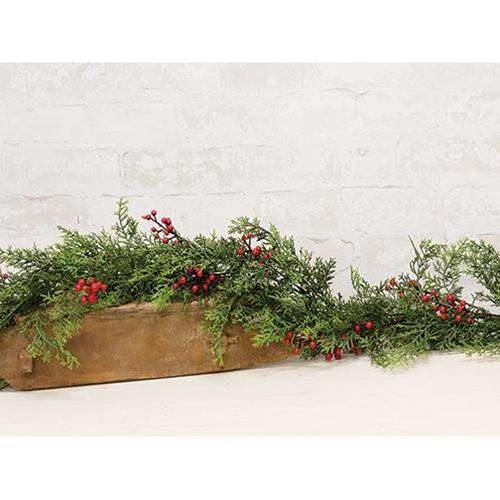 Red Cedar With Berries Garland, 6ft