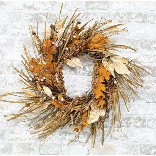 "Gleaning Wreath, 24"" - The Fox Decor"