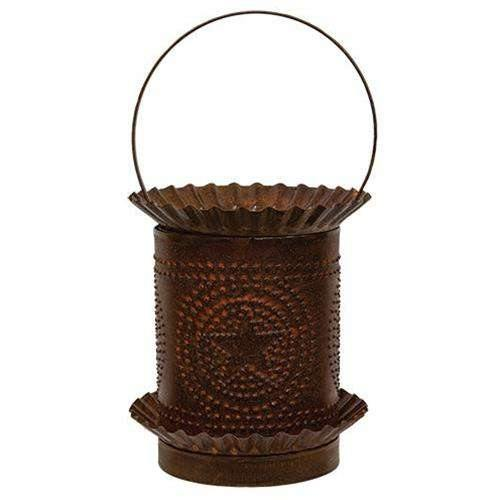 Rusty Jumbo Wax Melter w/Punched Stars
