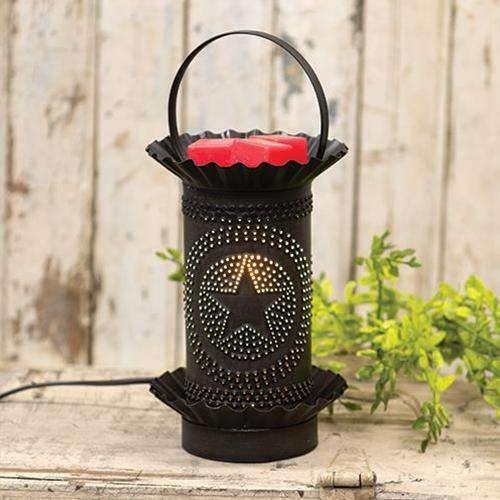 Kettle Black Mini Tart Warmer w/Punched Stars