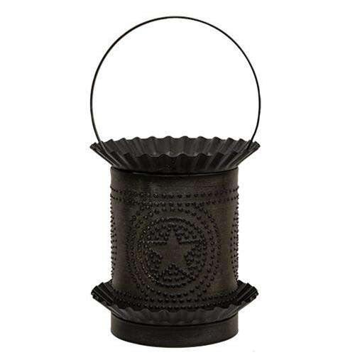 Kettle Black Jumbo Wax Melter w/Punched Stars