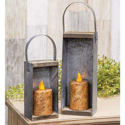 2/Set, Rustic Candle Boxes