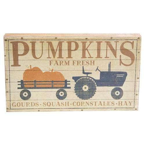 Pumpkins Box Sign