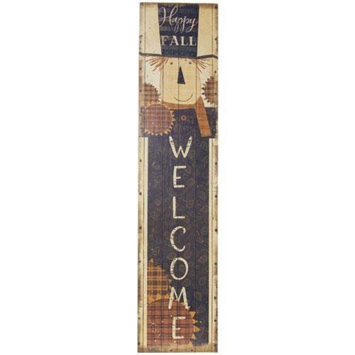 Scarecrow Welcome Porch Sign