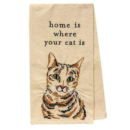 Home Is Where Your Cat Is Dish Towel