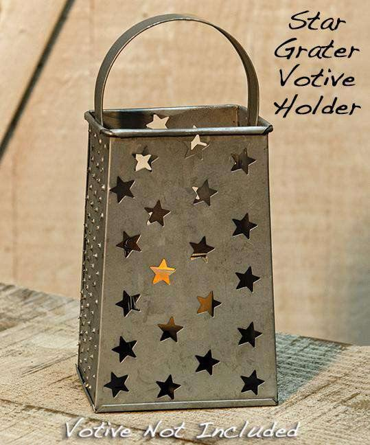 ^^Star Grater Votive Holder 8""