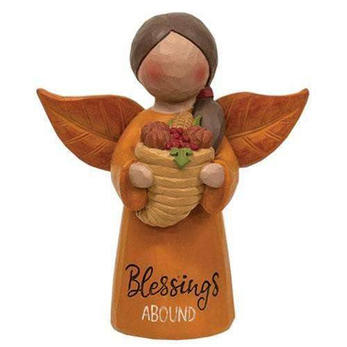 Blessings Abound Angel w/Cornucopia