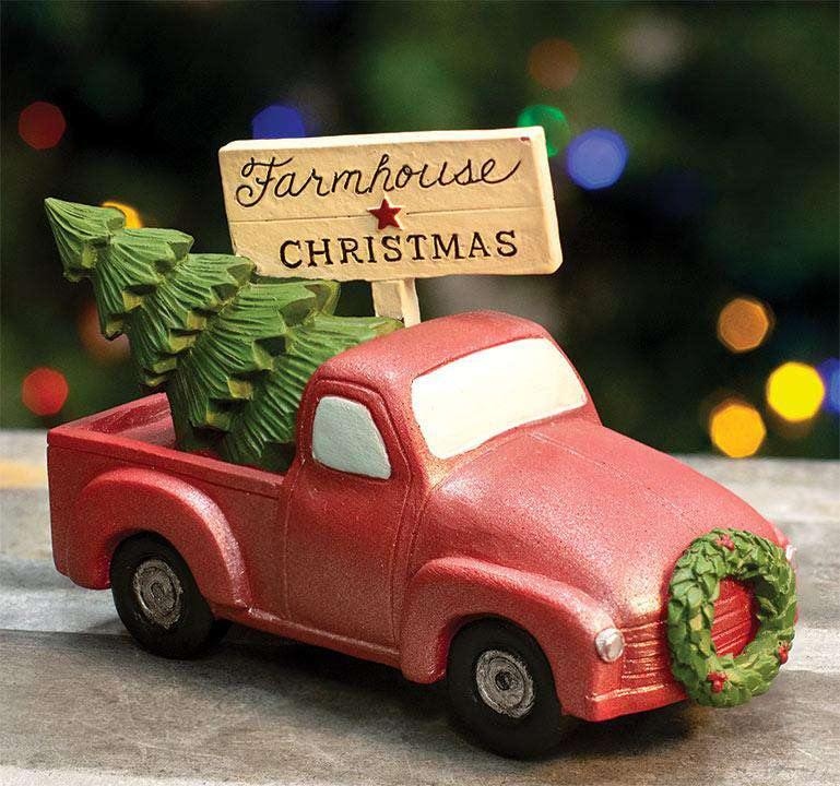 Farmhouse Christmas Truck w/Tree
