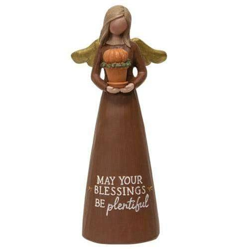 May Your Blessings Be Plentiful Resin Angel