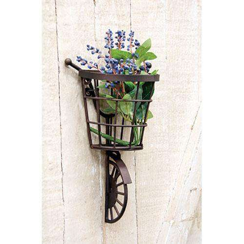 Bicycle Wall Hanging with Basket