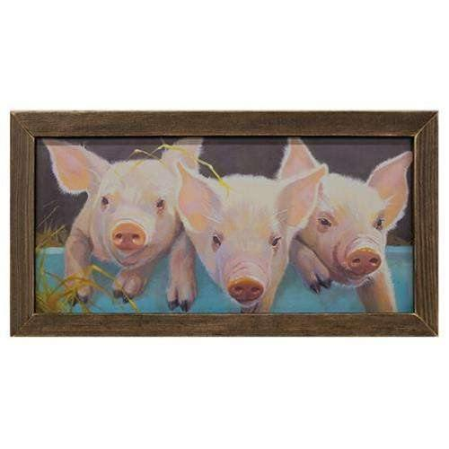 "Peter Patty Penny Print, 12"" x 24"", Brown Stain Frame"