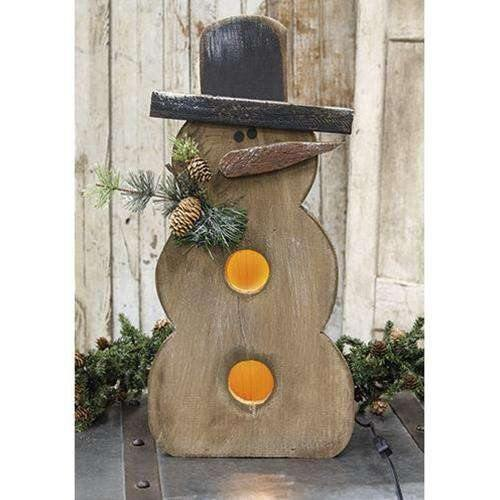 Light Up Snowman w/Pine & Cones, 2 Ft.