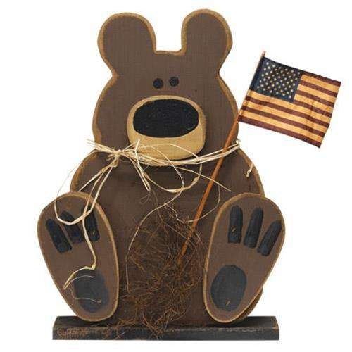 Wooden Americana Teddy on Base online