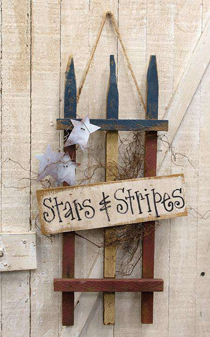 Stars & Stripes Americana Lath Gate - The Fox Decor