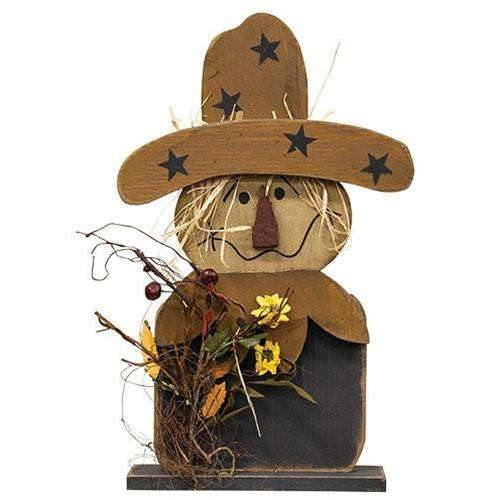 Wood Scarecrow w/Fall Florals, 2 Ft. online