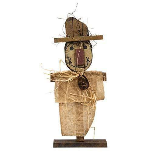"Burlap Scarecrow on Base, 20"" online"