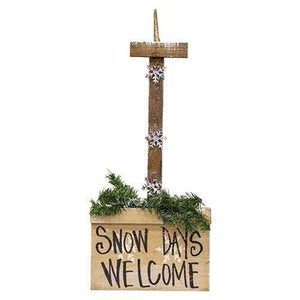 Wooden Hanging Snow Shovel, 3 Asstd. Christmas Decor