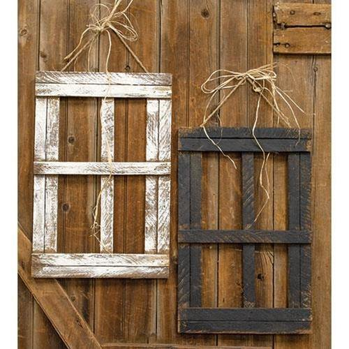 Hanging Farmhouse Window 2/Set