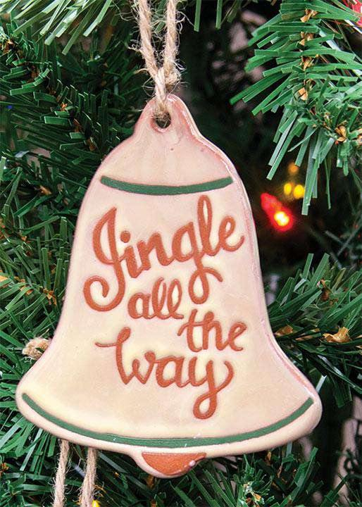 Jingle All The Way Ceramic Bell Ornament