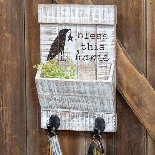 Bless This Home Wall Organizer